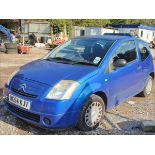05/54 CITROEN C2 DESIGN - 1124cc 3dr Hatchback (Blue, 0k)