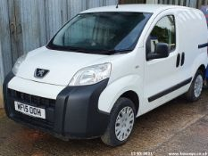 15/15 PEUGEOT BIPPER PROFESSIONAL HDI - 1248cc 5dr Van (White, 79k)