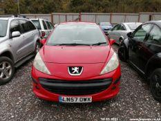 07/57 PEUGEOT 207 S HDI 67 - 1398cc 3dr Hatchback (Red)
