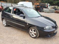 08/08 SEAT IBIZA STYLANCE - 1390cc 3dr Hatchback (Black, 89k)