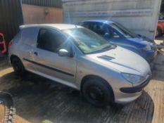 04/04 PEUGEOT 206 HDI - 1398cc Van (Silver, 141k)