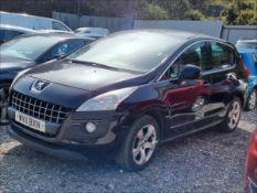 11/11 PEUGEOT 3008 SPORT HDI S-A - 1560cc 5dr Hatchback (Black, 114k)