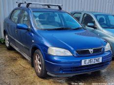 01/51 VAUXHALL ASTRA CLUB 16V AUTO - 1598cc 5dr Hatchback (Blue, 104k)