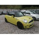 09/09 MINI COOPER S - 1598cc 2dr Convertible (Yellow, 83k)