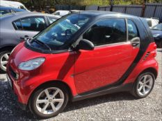 08/58 SMART FORTWO PULSE MHD AUTO - 999cc 2dr Coupe (Red/black, 41k)