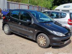 06/06 PEUGEOT 206 URBAN - 1360cc 5dr Hatchback (Black)