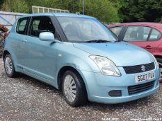 07/07 SUZUKI SWIFT GL - 1328cc 3dr Hatchback (Blue, 96k)
