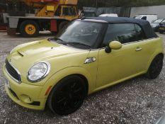 09/09 MINI COOPER S - 1598cc 2dr Convertible (Yellow, 83k)