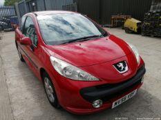 09/59 PEUGEOT 207 VERVE - 1360cc 3dr Hatchback (Red, 89k)