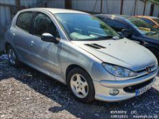 05/55 PEUGEOT 206 VERVE HDI - 1398cc 5dr Hatchback (Silver, 152k)