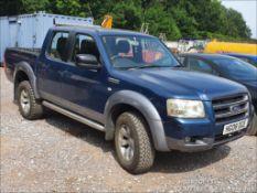 08/08 FORD RANGER XLT D/C 4WD - 2500cc 4x4 (Blue/grey, 175k)