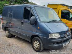 05/55 PEUGEOT BOXER 290 LX SWB HDI - 1997cc Van (Grey, 101k)