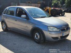 05/05 VAUXHALL CORSA DESIGN TWINPORT - 1229cc 5dr Hatchback (Silver, 68k)