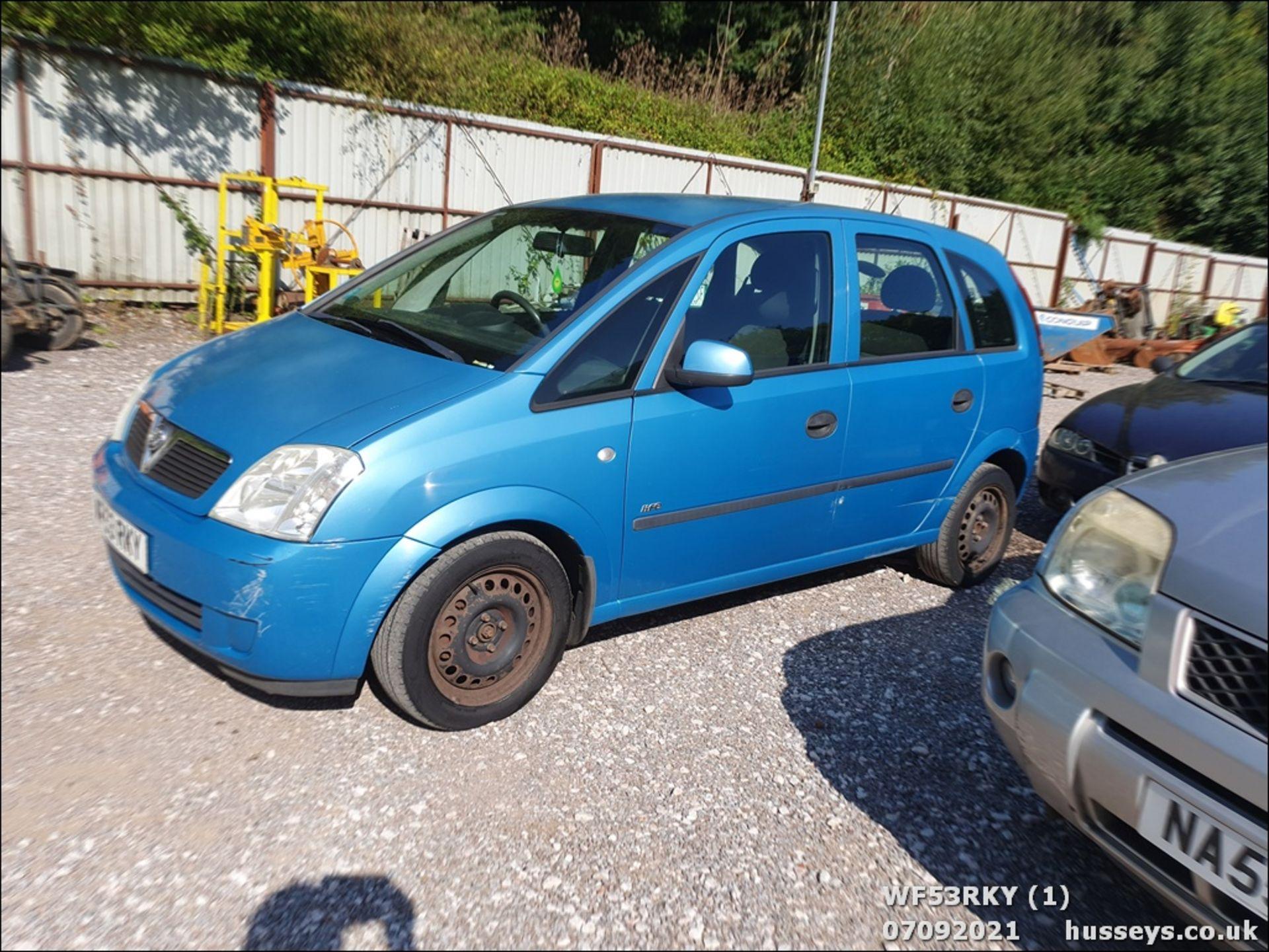 03/53 VAUXHALL MERIVA LIFE 8V - 1598cc 5dr MPV (Blue) - Image 2 of 15