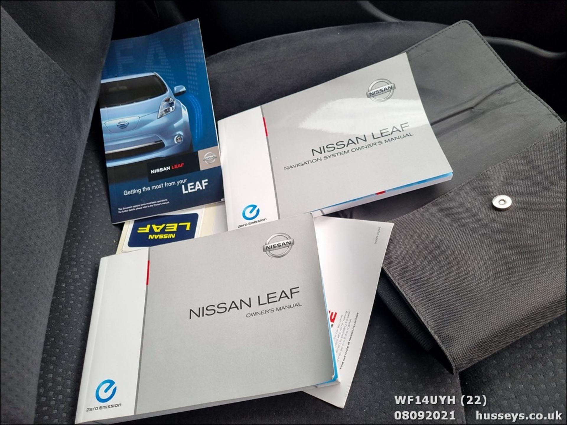 14/14 NISSAN LEAF ACENTA 5dr Hatchback (Silver, 18k) - Image 22 of 23