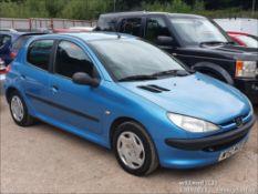 2000 PEUGEOT 206 LX - 1360cc 5dr Hatchback (Blue, 115k)