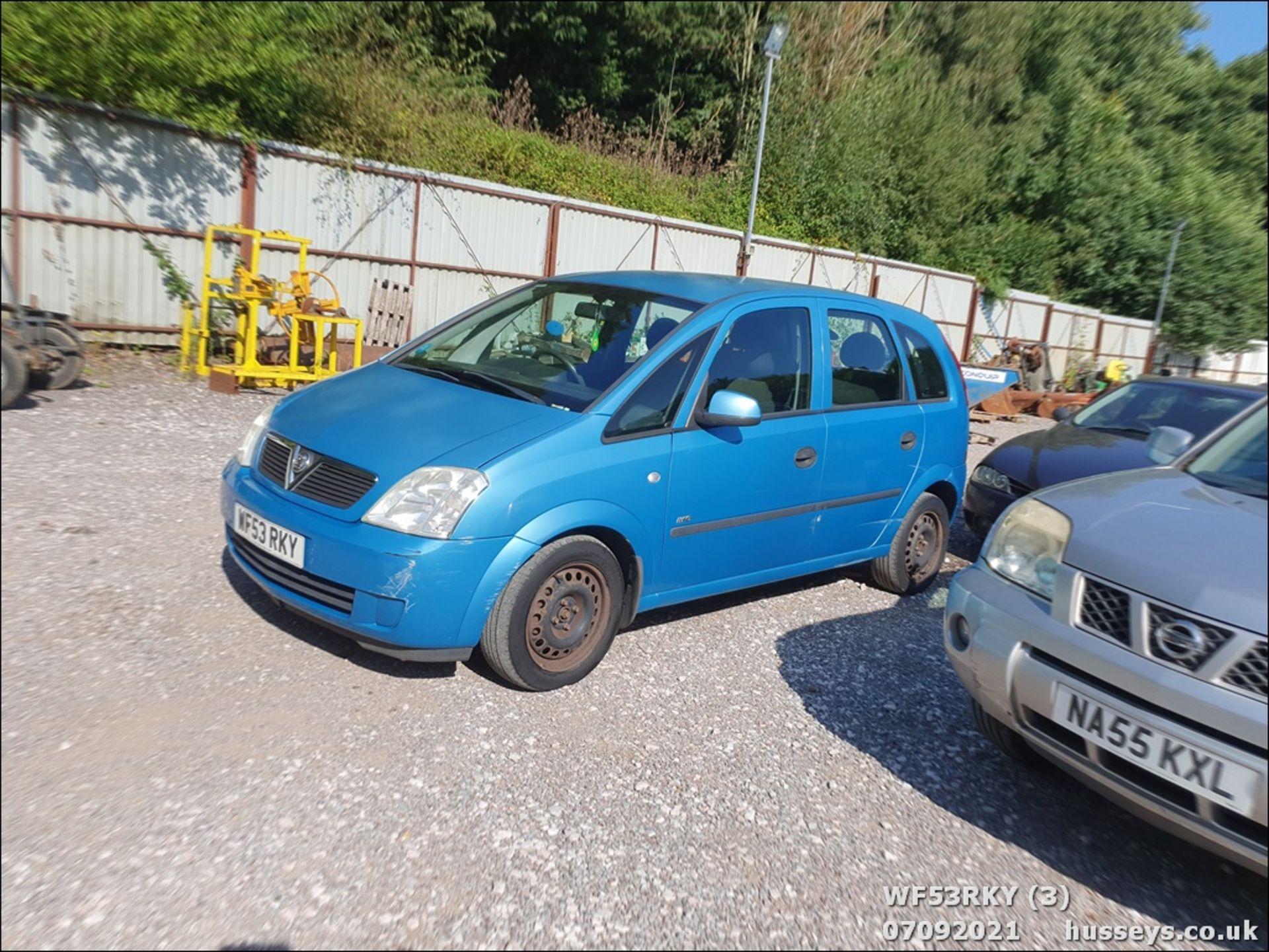 03/53 VAUXHALL MERIVA LIFE 8V - 1598cc 5dr MPV (Blue) - Image 4 of 15