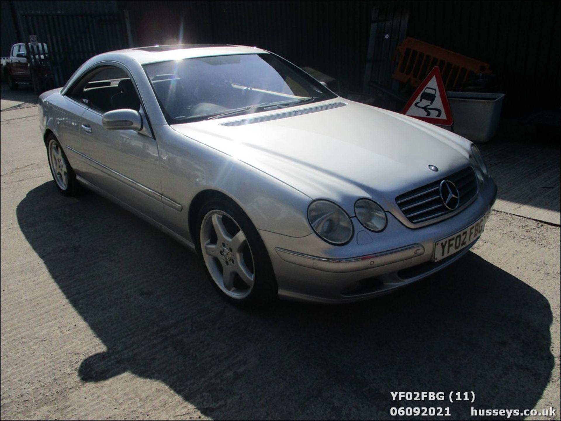 02/02 MERCEDES CL500 AUTO - 4966cc 2dr Coupe (Silver, 64k) - Image 11 of 16