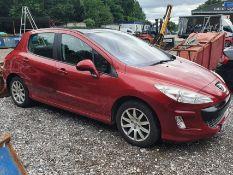 09/09 PEUGEOT 308 SE HDI - 1560cc 5dr Hatchback (Red)