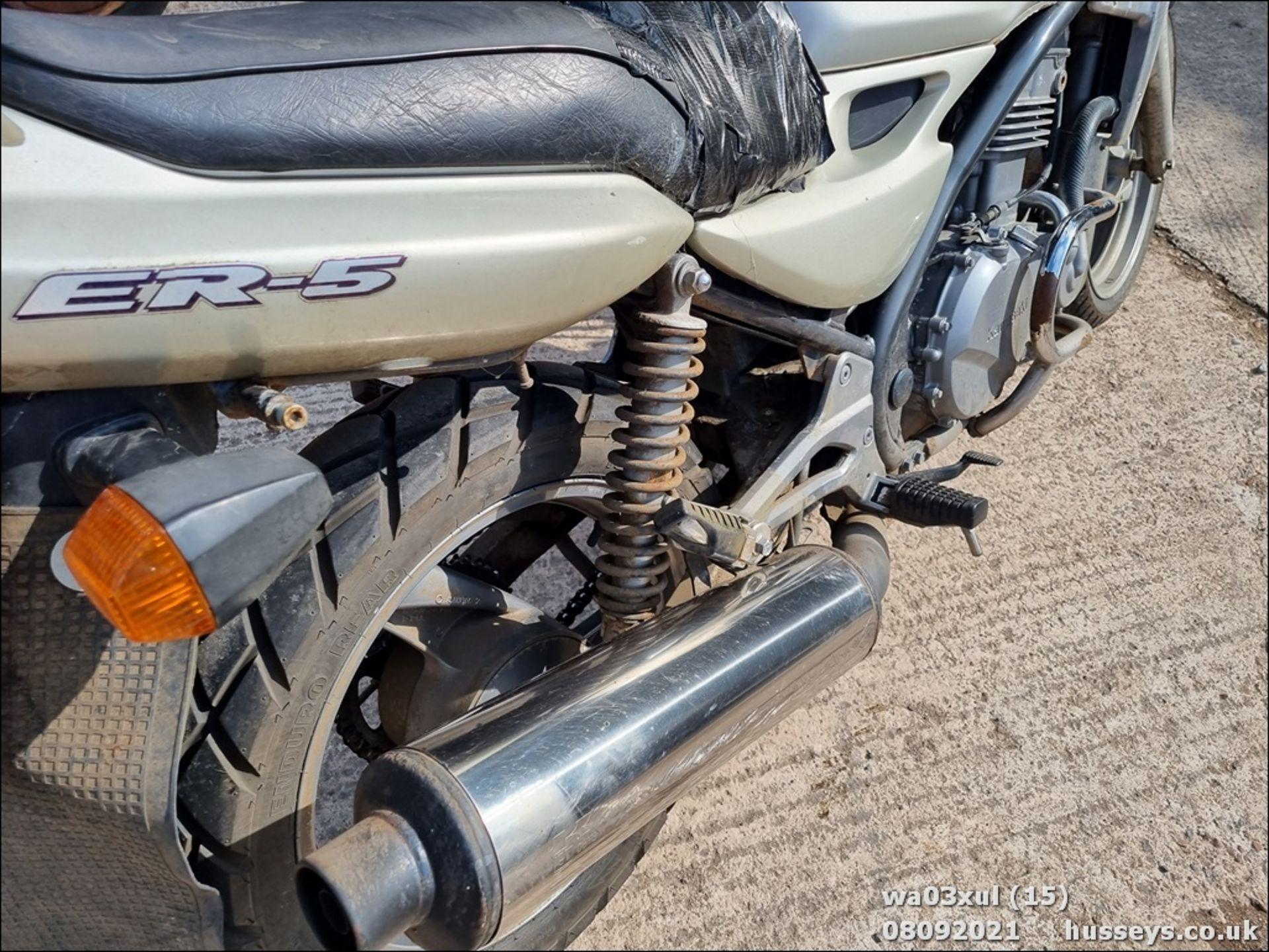 03/03 KAWASAKI ER500-C1 - 498cc Motorcycle (Gold) - Image 15 of 16