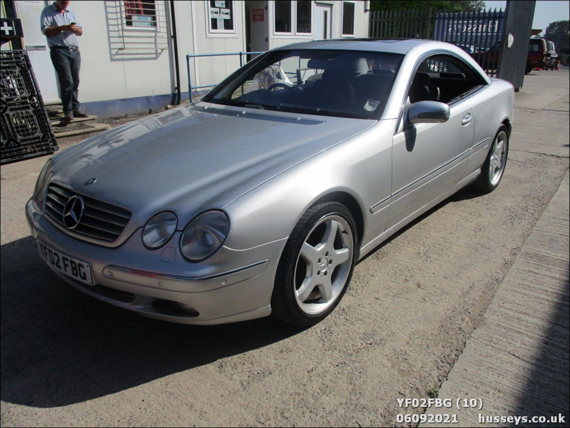 02/02 MERCEDES CL500 AUTO - 4966cc 2dr Coupe (Silver, 64k) - Image 10 of 16