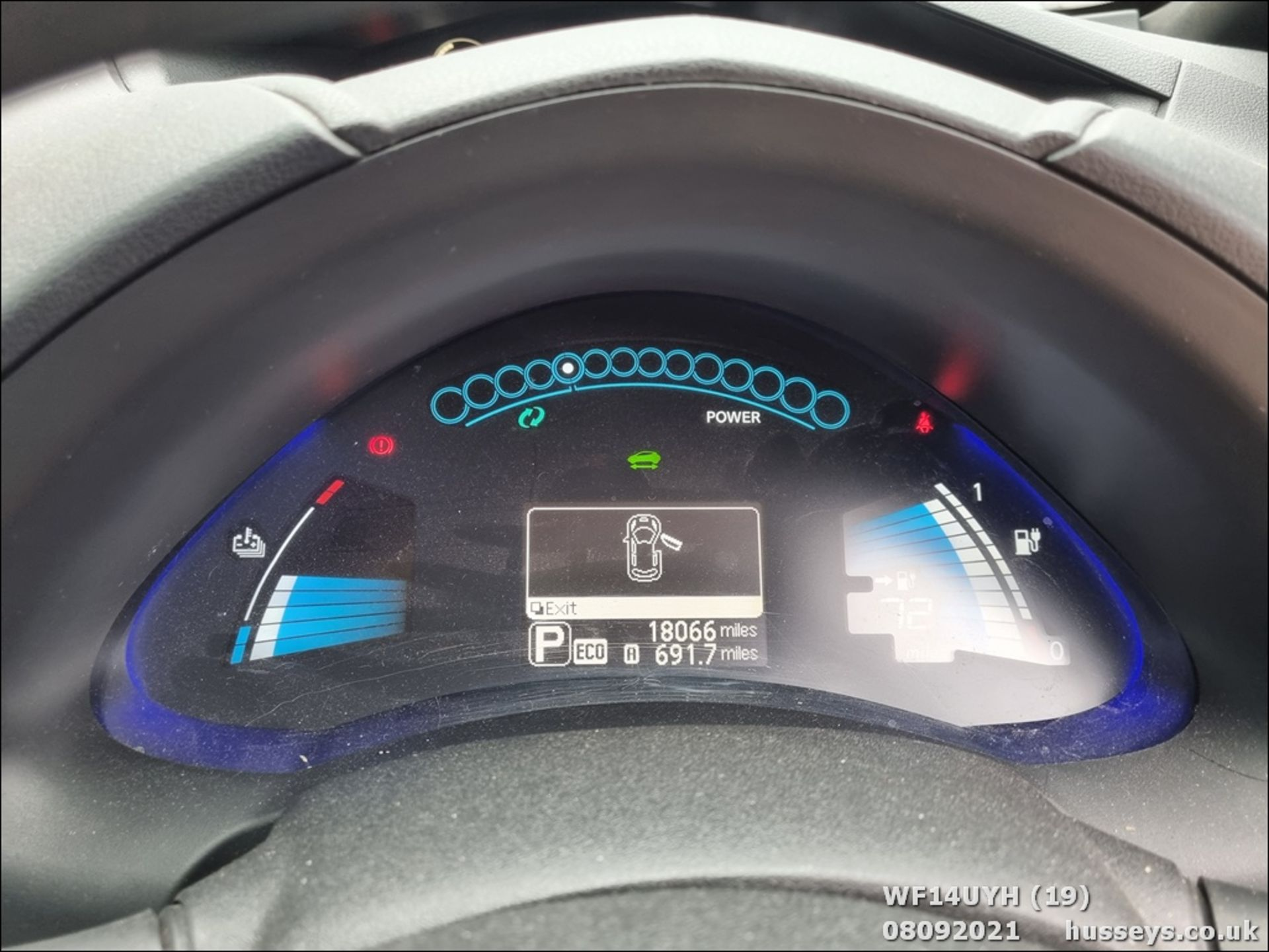 14/14 NISSAN LEAF ACENTA 5dr Hatchback (Silver, 18k) - Image 19 of 23