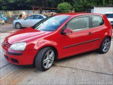 06/06 VOLKSWAGEN GOLF S - 1390cc 3dr Hatchback (Red, 131k)