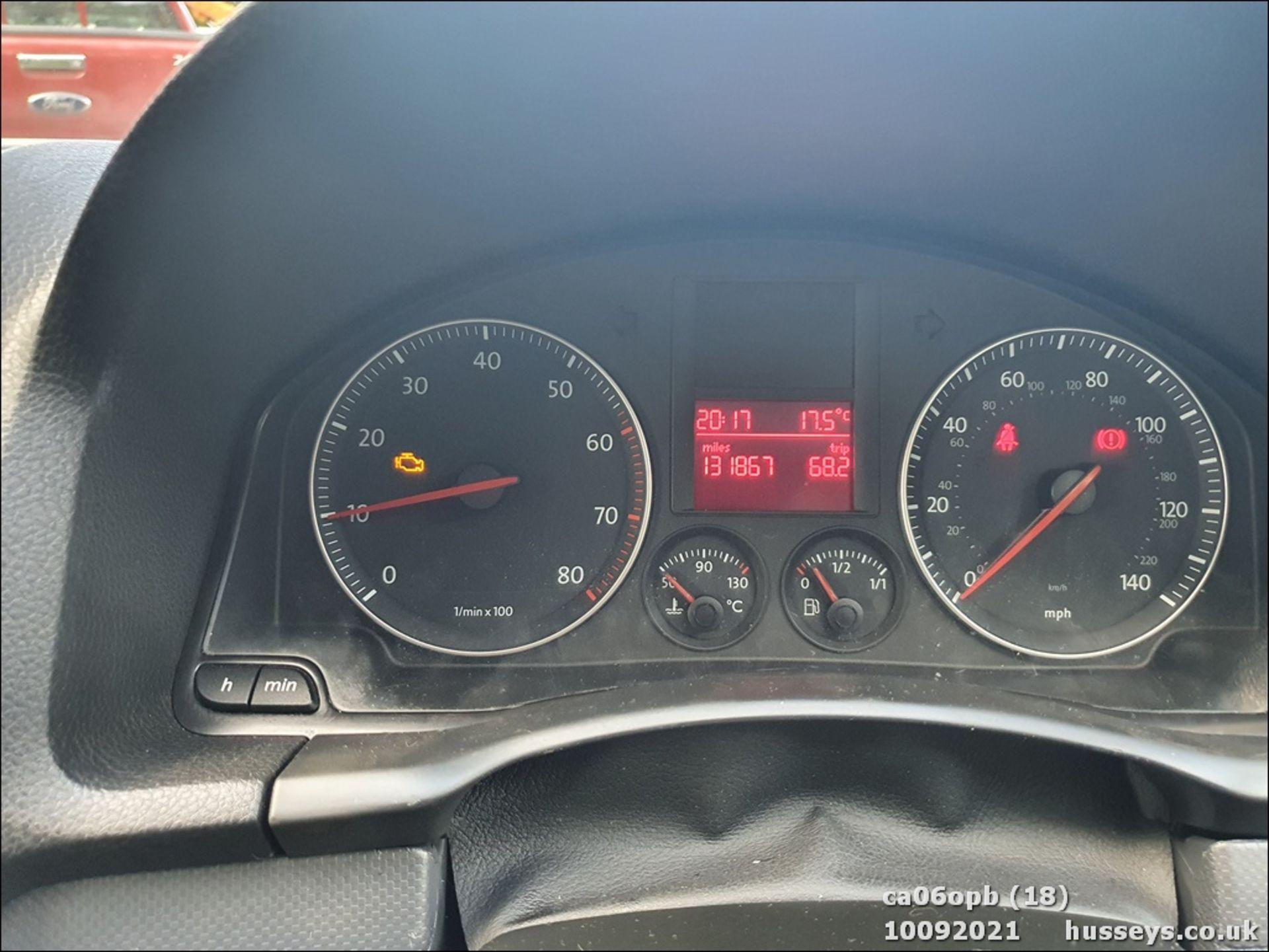 06/06 VOLKSWAGEN GOLF S - 1390cc 3dr Hatchback (Red, 131k) - Image 18 of 18