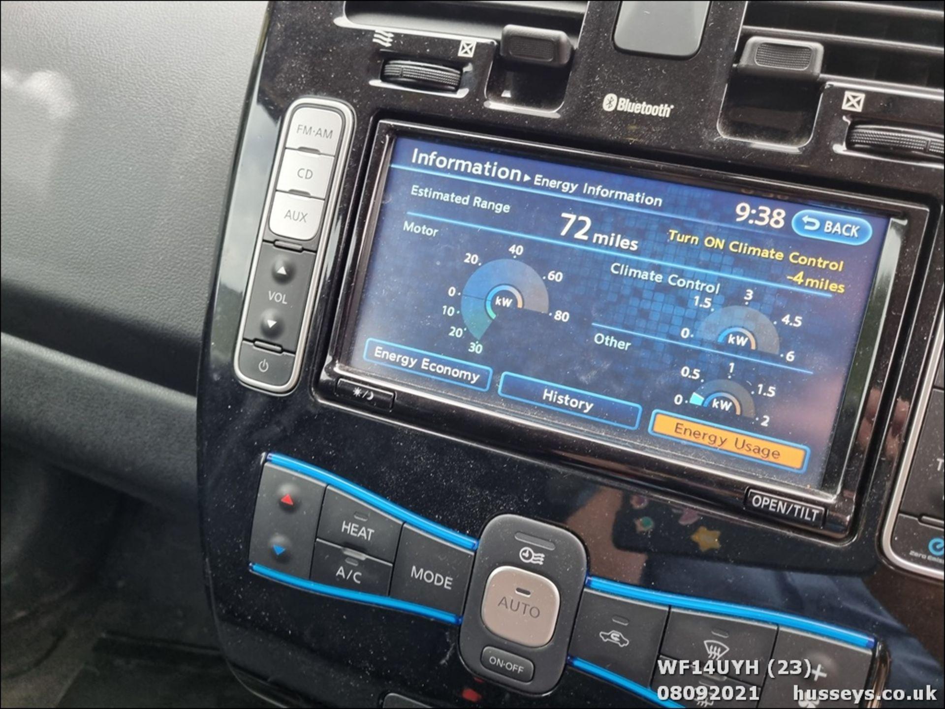 14/14 NISSAN LEAF ACENTA 5dr Hatchback (Silver, 18k) - Image 23 of 23