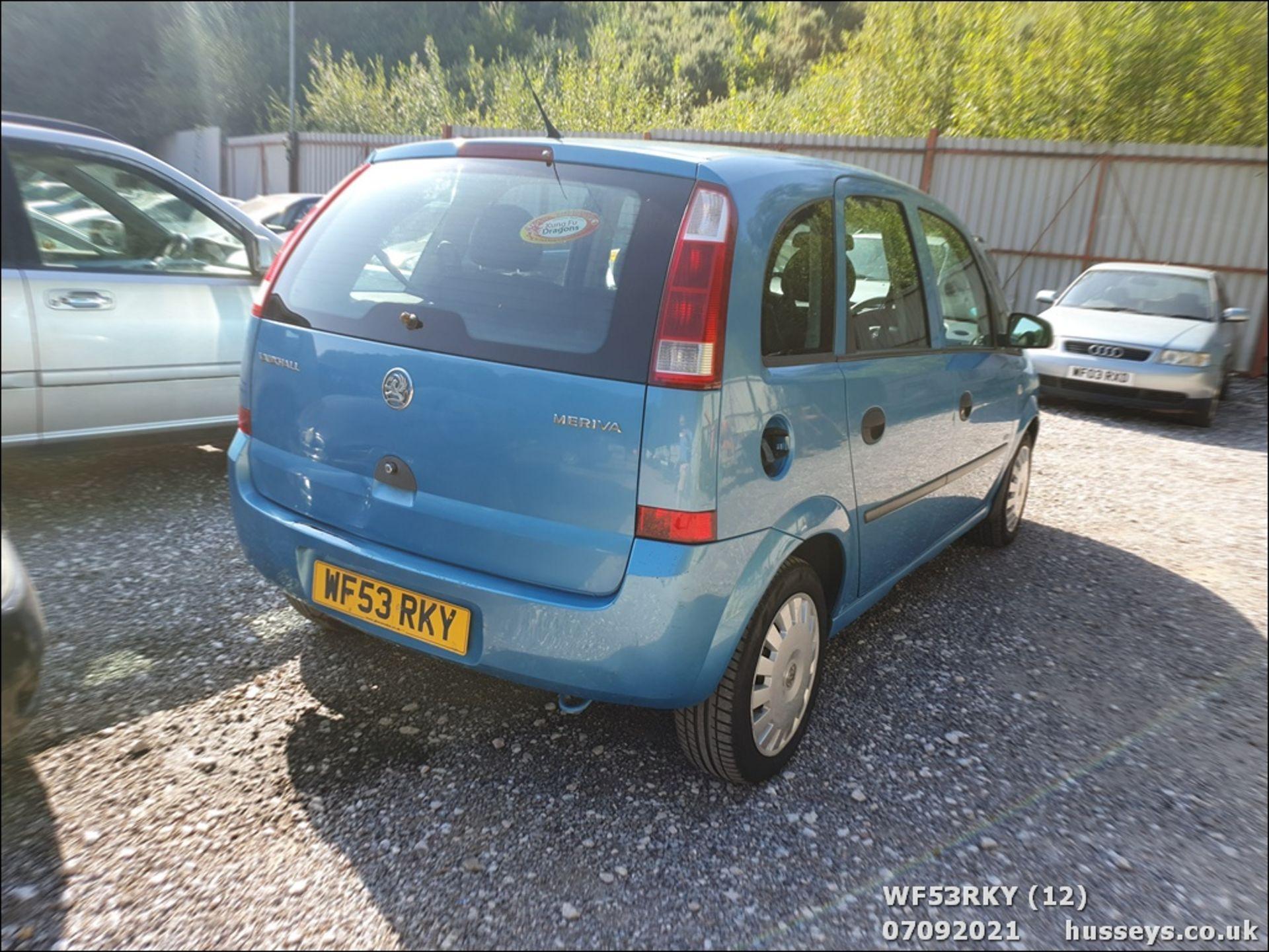 03/53 VAUXHALL MERIVA LIFE 8V - 1598cc 5dr MPV (Blue) - Image 12 of 15
