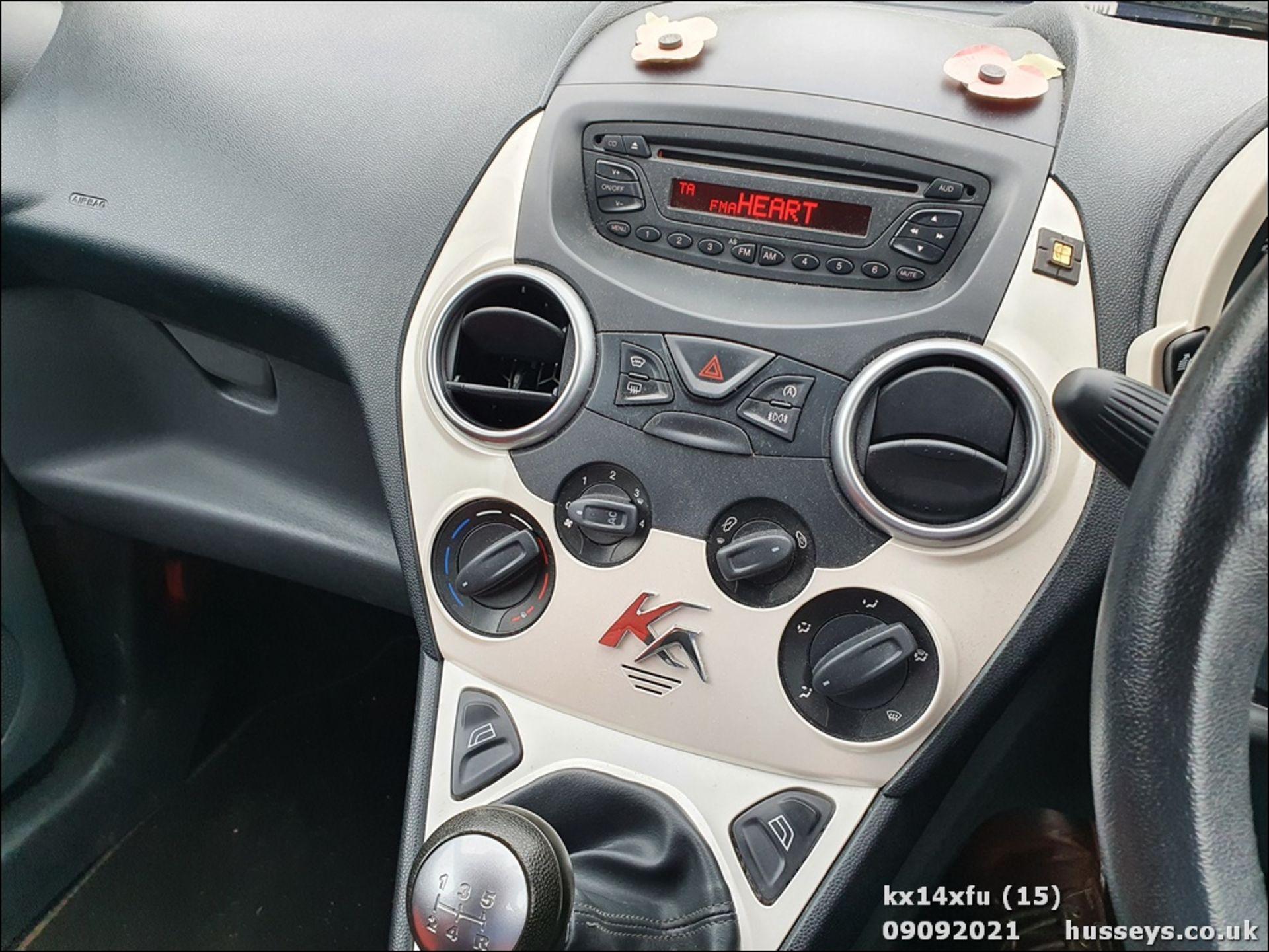 14/14 FORD KA ZETEC - 1242cc 3dr Hatchback (Red) - Image 15 of 17