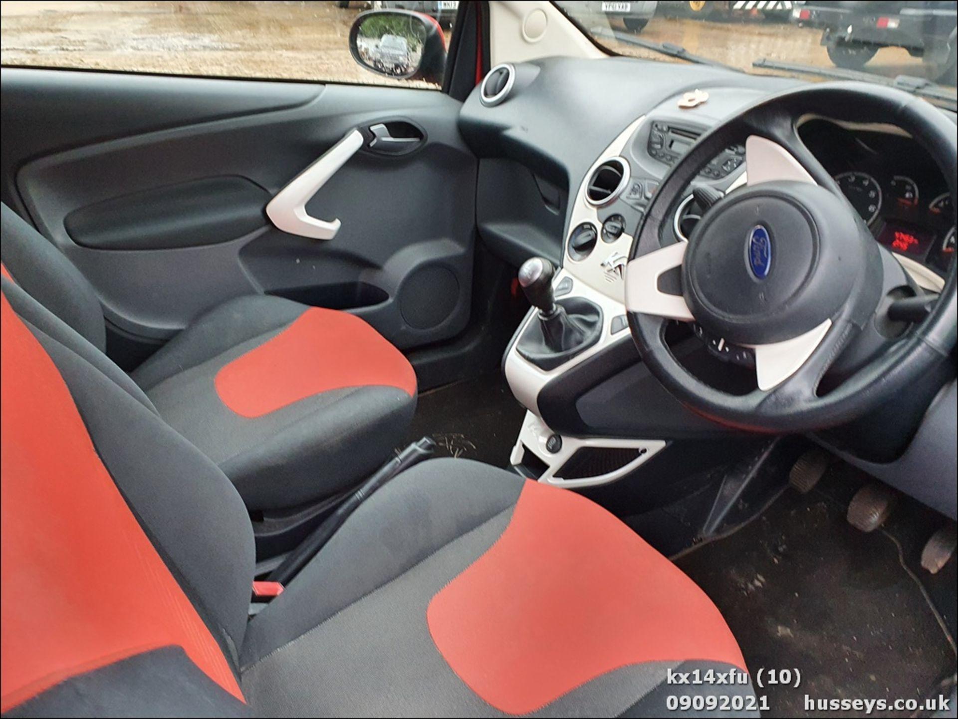 14/14 FORD KA ZETEC - 1242cc 3dr Hatchback (Red) - Image 10 of 17