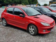 05/05 PEUGEOT 206 SPORT HDI - 1997cc 5dr Hatchback (Red, 153k)