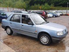 1992 PEUGEOT 309 GL AUTO - 1580cc 5dr Hatchback (Blue)