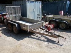INDESPENSION 8X4 TWIN AXLE PLANT TRAILER
