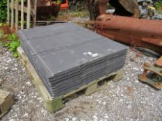 PALLET OF 81 MARLEY ROOFING TILES 420MM X 330MM ALL INTACT WITH 1 FIXING HOLE DRILLED IN EACH