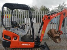 KUBOTA KX016.4 MINIDIGGER C.W 3 BUCKETS, 2015 2178HRS RDD 2 SPEED TRACKING PIPED FOR HAMMER,
