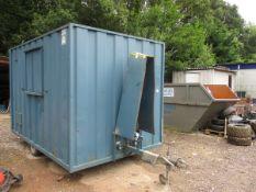 GROUNDHOG GP360 WELFARE UNIT C.W DIESEL 6KVA GENERATOR, WC & KITCHEN/RESTROOM (TOWED IN, RMP)