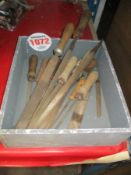 TOOLS WITHIN & INCLUDING A WOODEN BOX
