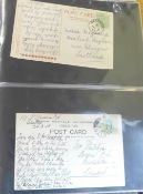Stamps; Ireland postal history, postal stationery and first day covers in album, includes First