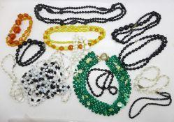 Vintage glass bead jewellery
