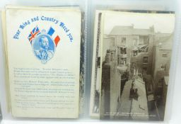 Postcards; military postcard collection, many RPP's (40)