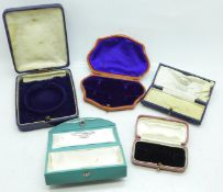 Five vintage jewellery boxes
