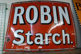 A Robin Starch enamelled advertising sign, 92 x 122cms