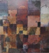 A Paul Klee print, Rote u Weisse Kuppeln, framed