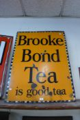 A Brooke Bond Tea enamelled advertising sign, 102 x 76cms