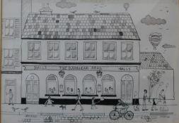 * Pollard, The Barbican Arms, pen & ink, 20 x 29cms, framed