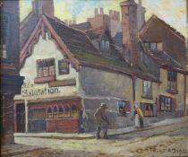 Chas. A. Paulden, Ye Olde Salutation Inn, Hounds Gate, Nottingham, oil on canvas, dated 1922, 29 x
