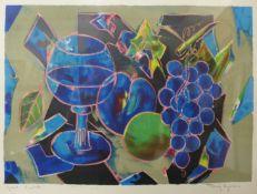 A signed Tony Agostini lithograph, Greuve Ol'Artiste, framed