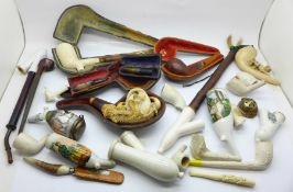 A collection of pipes, a/f